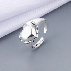 NEW 925 Sterling Silver Elevated Heart Band Ring